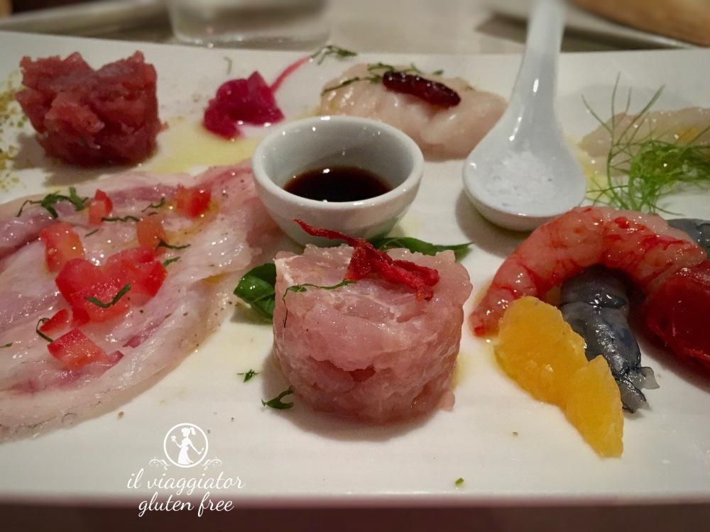 Da Meltemi (Parma) - Composizione di pesce crudo