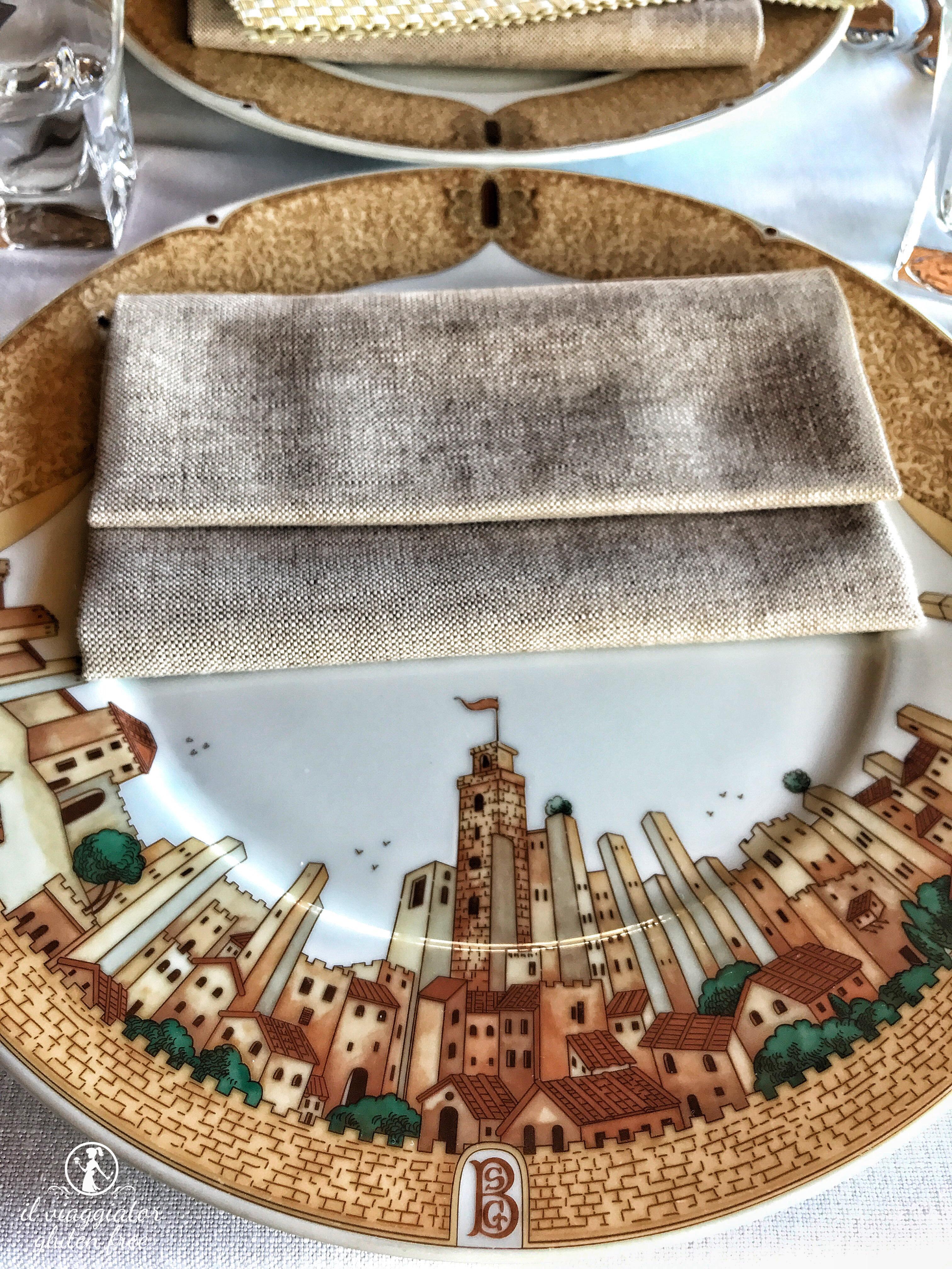 Penne senza glutine a San Gimignano accompagnate da una vista ...