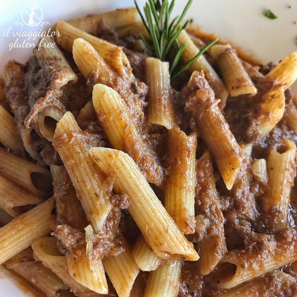 Bel Soggiorno (San Gimignano): Penne senza glutine al sugo di cinghiale