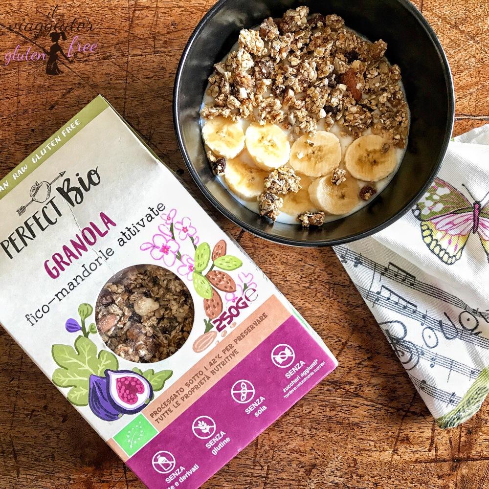 Perfect Bio: confezione Granola senza glutine fico e mandorle attivate
